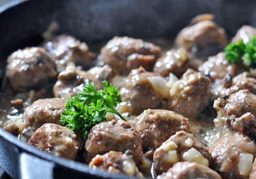Тефтели из говядины с грибами