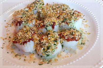 Морские гребешки в горчичном соусе